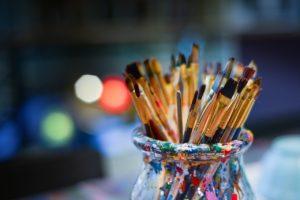 いろんな種類の筆