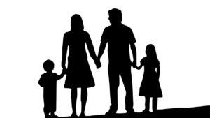 家族のシルエット