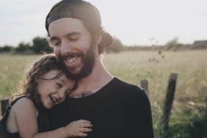 笑顔な親子