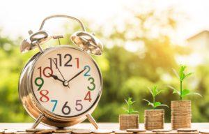 時計と硬貨